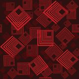 Seamless retro pattern with squares Stock Photo
