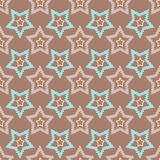 Seamless retro pattern with stars background Stock Photos