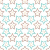 Seamless retro pattern with stars background Stock Image