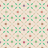 Seamless retro pattern with stars and geometrical elements Stock Photos