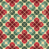 Seamless retro pattern, vector tiles background with messy grung Royalty Free Stock Images