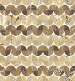 Seamless retro pattern, vector tiles background with messy grung Stock Image