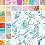 Seamless retro patterns Royalty Free Stock Photo