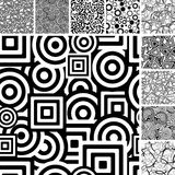 Seamless retro patterns Stock Photography