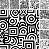 Seamless retro patterns Stock Photography
