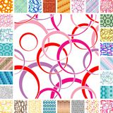 Seamless Retro Patterns Stock Images