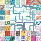 Seamless retro patterns Royalty Free Stock Images