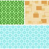 Seamless Retro Patterns Stock Image