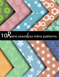 10 seamless retro patterns. Can be used for wallpaper,  pattern fills Royalty Free Stock Photo