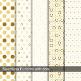Seamless retro patterns with circles and dots. Decorative vector collection. Seamless retro patterns with circles and dots stock illustration