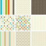 Seamless retro patterns collection. Vector illustration vector illustration