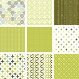 Seamless retro patterns collection. Vector illustration Royalty Free Stock Images