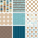 Seamless retro patterns collection. Vector illustration Royalty Free Stock Photography