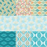 Seamless retro patterns. Stock Photos