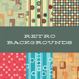 Seamless retro patterns. Six retro-inspired scratched backrounds royalty free illustration