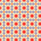 Seamless retro patterns. On teh background vector illustration