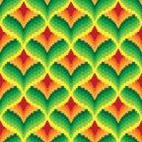 Seamless retro pixel game pattern. Vector Stock Photos