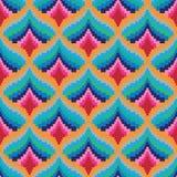 Seamless retro pixel game pattern Royalty Free Stock Image