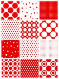 Seamless retro polka dot. Seamless red polka dots pattern.  available Royalty Free Stock Photo