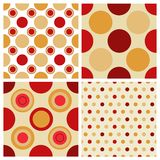 Seamless retro polka dots Royalty Free Stock Images