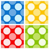 Seamless retro polka dots Stock Photo
