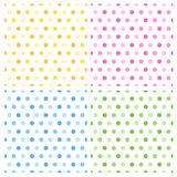 Seamless retro polka dots vector illustration