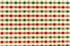 Seamless retro red and green squared fabric Stock Photography