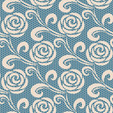 Seamless retro roses lace pattern Stock Image