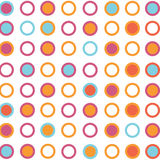 Seamless retro rounded pattern background. Wallpaper Stock Image