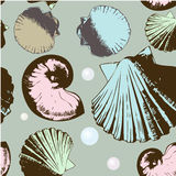 Seamless  retro shells Royalty Free Stock Photography