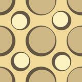 Seamless retro spots design. Retro seamless pattern with spots royalty free illustration