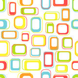 Seamless retro squares. In bright colors Stock Photography