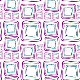 Seamless retro squares purple and blue Royalty Free Stock Photos