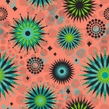 Seamless Retro Starbursts Pattern Royalty Free Stock Images