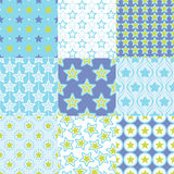Seamless retro stars geometric pattern Royalty Free Stock Images