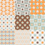 Seamless retro stars pattern. Set Royalty Free Illustration