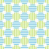 Seamless retro striped circles Royalty Free Stock Photo