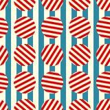 Seamless retro stripes and circles. Stripes and retro circles. Seamless Tile Stock Photos