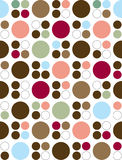 Seamless Retro Style Circle Background. Circle pattern with varying colors. Can be used as-is or as a seamless background stock illustration