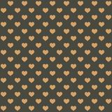 Seamless Retro Style Pattern with Hearts. Vector. Illustration vector illustration