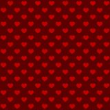 Seamless Retro Style Pattern with Hearts. Vector Royalty Free Stock Image