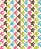 Seamless Retro-stylized Shapes. Tileable, seamless Royalty Free Stock Photography