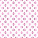 Seamless retro stylized snow flake pattern wallpaper - vector seasonal decoration background. Illustration Stock Photos