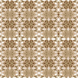 Seamless retro tapestry in brown tones Royalty Free Stock Image