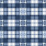 Seamless retro textile tartan checkered plaid pattern background Stock Photo