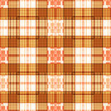 Seamless retro textile tartan checkered plaid pattern background Stock Photography