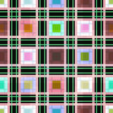 Seamless retro textile tartan checkered plaid pattern background Royalty Free Stock Photos