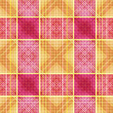 Seamless retro textile tartan checkered plaid pattern background Royalty Free Stock Image