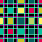 Seamless retro textile tartan checkered plaid pattern background Stock Image