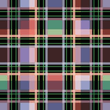 Seamless retro textile tartan checkered plaid pattern background Royalty Free Stock Photography